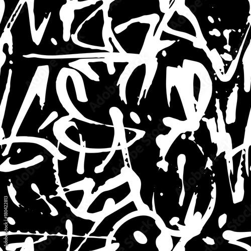 Plakat Wektorowi graffiti bezszwowy wzór z abstrakcjonistycznymi etykietkami