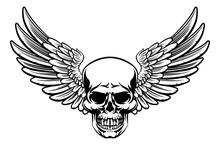 Winged Skull Vintage Engraved ...