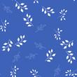 fabric flower vector seamless pattern