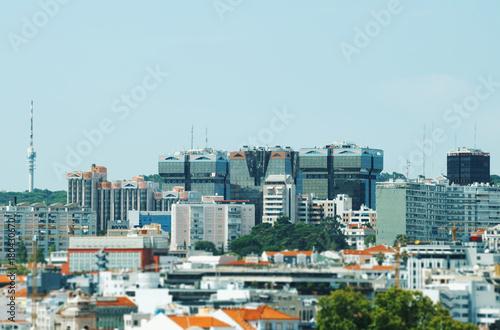 View of modern city of Lisbon.