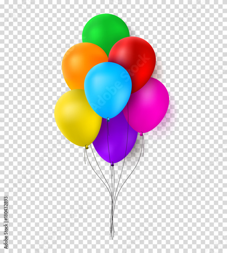 festive color balloons template bunche of realistic balloons