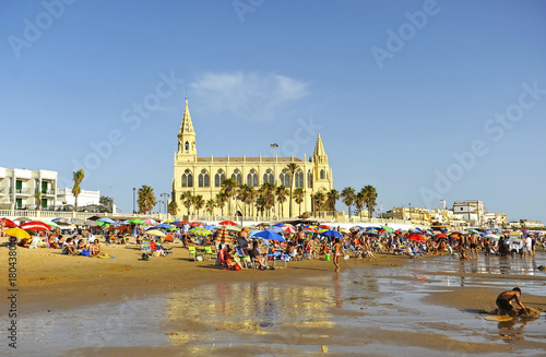 Fotografie, Obraz  Playa de Regla en Chipiona, provincia de Cádiz, España