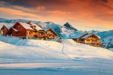 Majestic Sunset And Ski Resort...