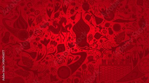 Fotografie, Obraz  Russian red wallpaper, vector illustration