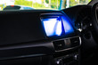 car touch screen with car Interior design.