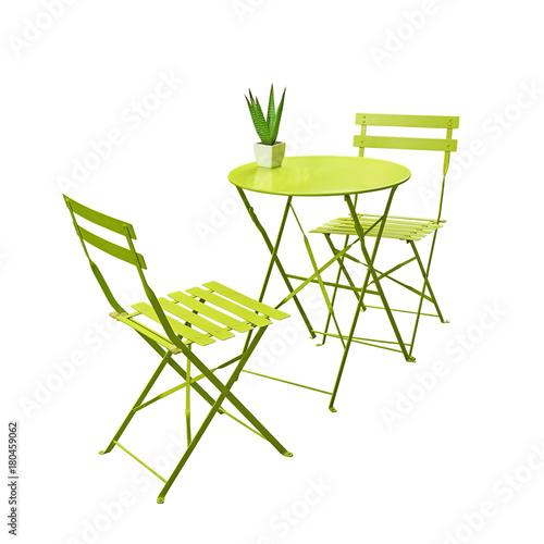 Salon de jardin vert anis - Buy this stock photo and explore ...