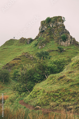 Part of the surreal landscape at Fairy Glen, Isle of Skye. Wallpaper Mural