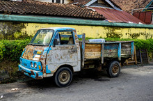 Old And Rusty Truck Car In Jogjakarta Indonesia