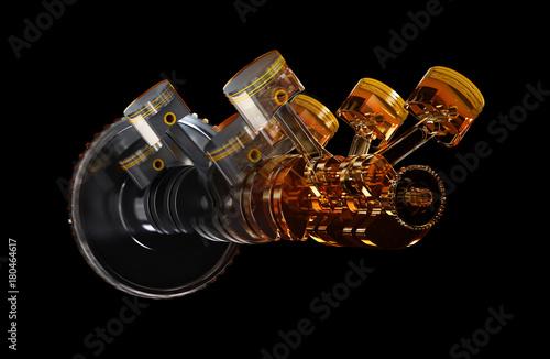Fototapeta 3d illustration of engine. obraz