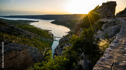 Gorges du Verdon / Lac de Saint Croix Canvas-taulu