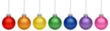 Christmas Baubles All Colors O...