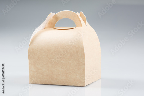 Stack Takeaway Cardboard Food Boxes in White Background