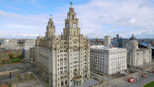 Aerial View Of Liverpool Town ...