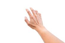 Isolated Hand Reaching Out