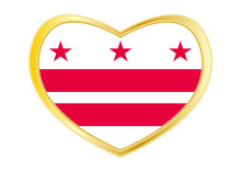 Flag Of Washington, D.C. In He...