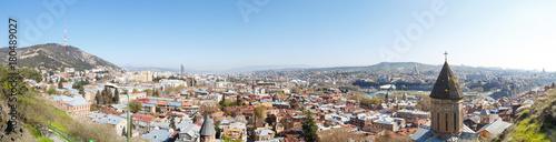 Poster Algérie old district Tbilisi, top view