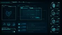 HUD Elements Pack, Transparent Displays, Command Center, Smart Cities, Interface Design  Vol1