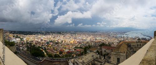 Fototapety, obrazy: Castel Sant'Elmo, Blick vom Belvedere San Martino auf die Altstadt von Neapel, Neapel, Kampaniem, Italien