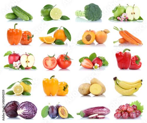 Früchte Obst und Gemüse Apfel Tomaten Orange Zitrone Trauben Farben ...