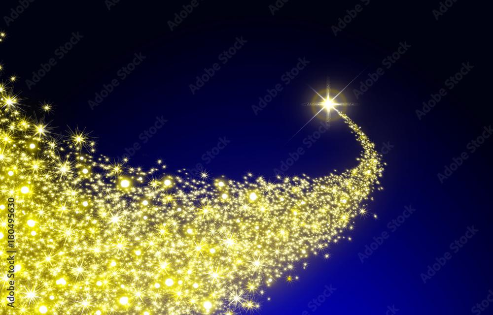 Fototapety, obrazy: Christmas star isolated on blue background.