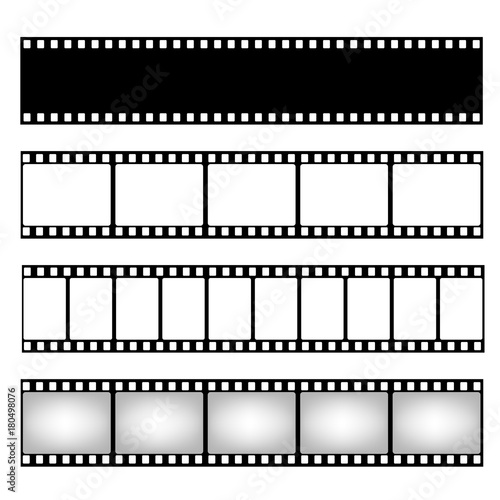 Film strip collection. Vector template. Cinema frame - Buy this ...