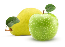 Yellow Pear And Green Apple Wi...