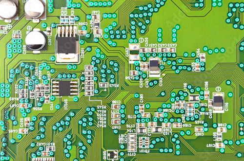 Foto op Canvas Op straat Circuit board background