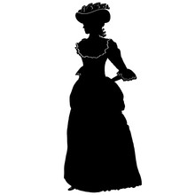 Romantic Female Silhouette In ...