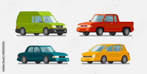 Garden Poster Cartoon cars Cars, icons set. Transport, transportation, vehicle concept. Vector illustration