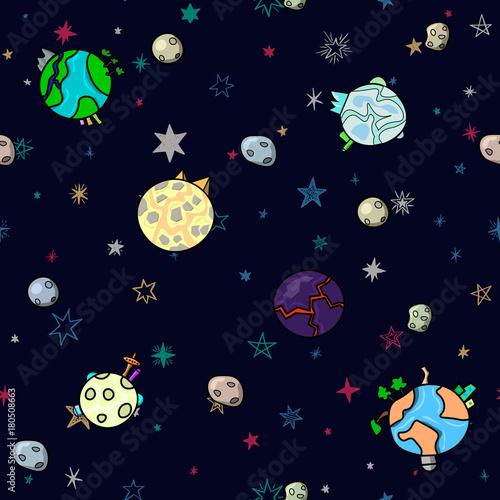 wzor-przestrzeni-bez-szwu-z-planet-i-gwiazd-dziecinna-stylizowana-ilustracja