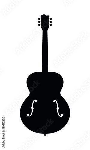 Photo Hollow Body Jazz Guitar Silhouette With F Holes