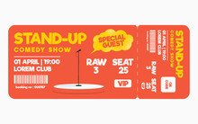 Stand Up Comedy Show Ticket Is...