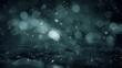 Christmas Winter Motion background : gray noir Lights and snow slowly falling on ice bokeh defocused. Seamless loop 4k