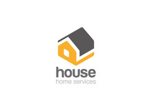 House Silhouette Isometric Fla...