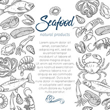 Page Template Hand Drawn Seafood