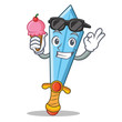 With ice cream sword character cartoon style