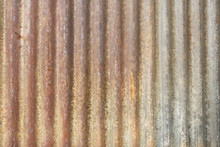 A Rusty Corrugated Iron Metal ...