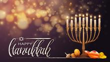Jewish Holiday Hanukkah Backgr...