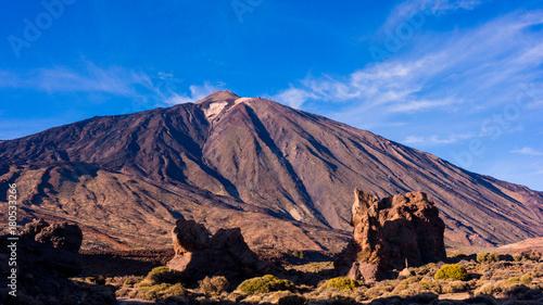 Deurstickers Canarische Eilanden landscape with mount Teide in Teide National Park - Tenerife, Canary Islands
