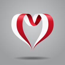Polish Flag Heart-shaped Ribbo...