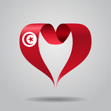 Tunisian Flag Heart-shaped Rib...