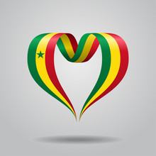 Senegalese Flag Heart-shaped R...