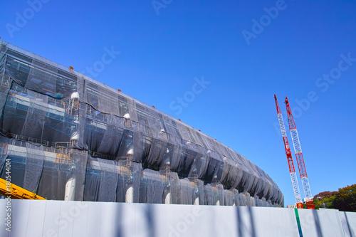 Deurstickers Stadion 建設中の新国立競技場