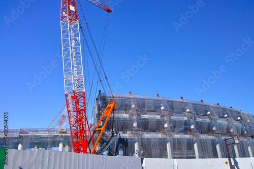 Spoed Foto op Canvas Stadion 建設中の新国立競技場