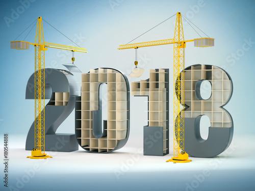 Plakat  2018 and cranes