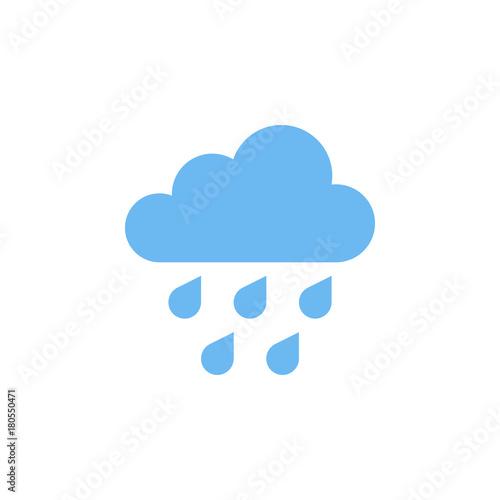 Rain Icon isolated on grey background. Fototapete