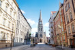 St. Mary's street and church in Katowice, Silesia, Poland
