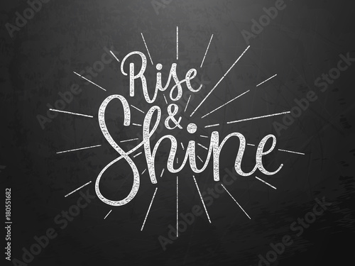 Photo  RISE AND SHINE hand lettering