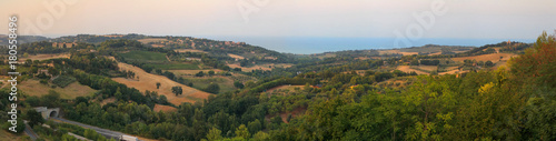 small villages in the foothills of Italy. Canvas Print