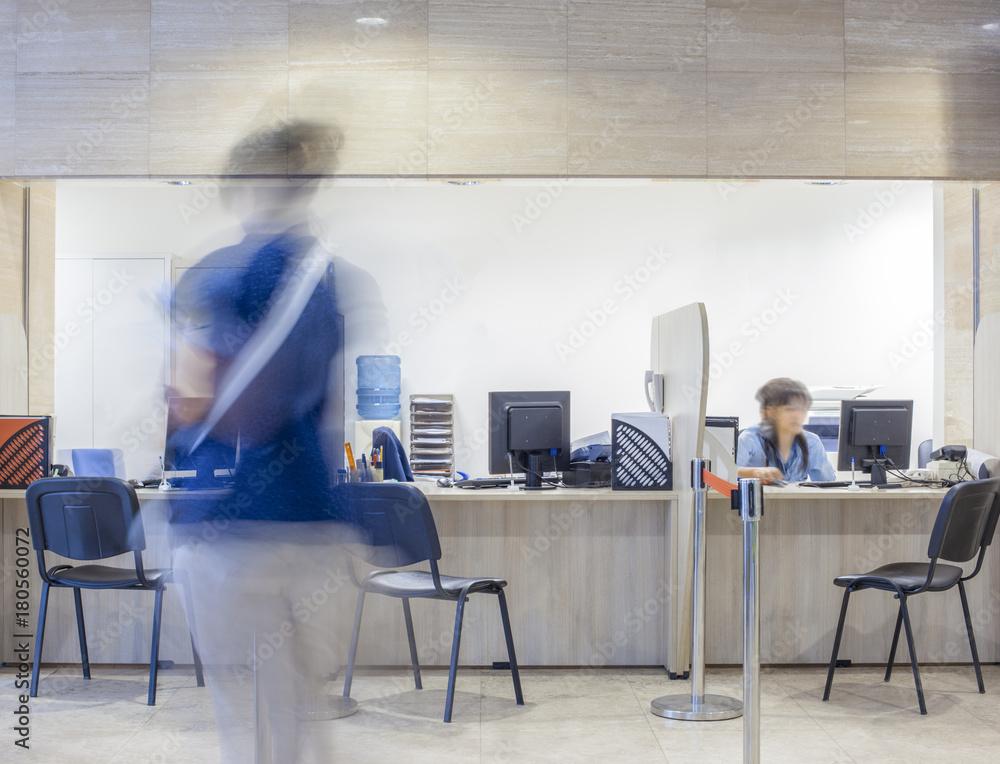 Fototapeta Registration Hospital Bank Customs Desk